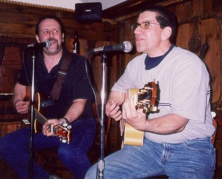 Hughie & Doug at Harry G's May 2001